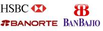 HSBC, Banorte y Banco del Bajío